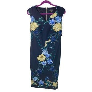 NWT Thalia Sodi Embroidered Floral Shift Dress Sm